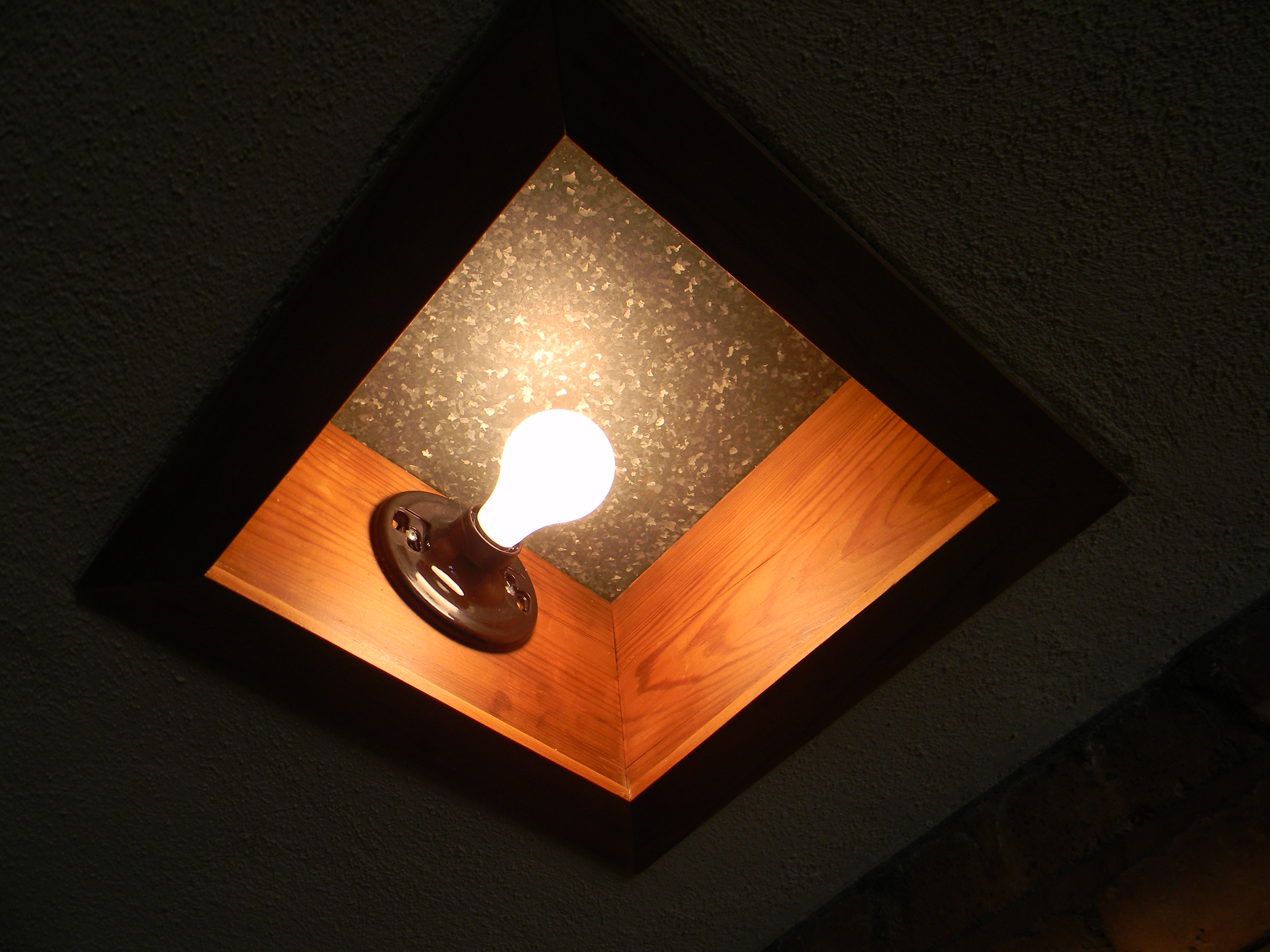 One Of Wright S Cost Cutting Measures Were These Simple Exposed Ceramic Light Fixtures In The Ceiling