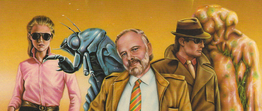 "Barclay Shaw cover art for ""Clans of the Alphane Moon"" by Philip K. Dick."