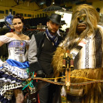 Steampunk R2-D2, Han Solo, and Chewbacca